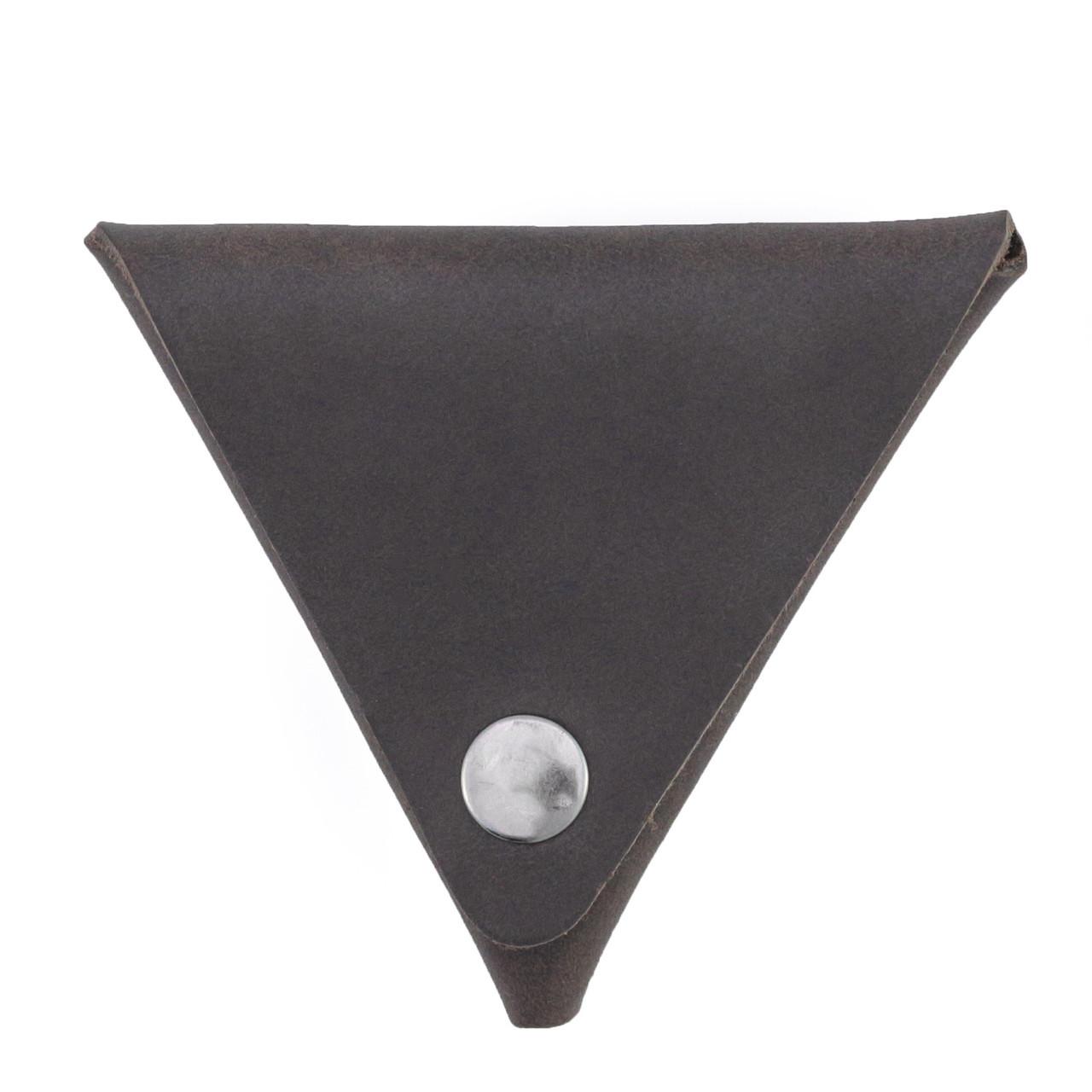 Монетница кожаная ручной работы темно-коричневая HELFORD Тринг brn (1133844781)