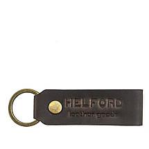 Монетница кожаная ручной работы темно-коричневая HELFORD Тринг brn (1133844781), фото 2