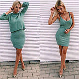 Женское платье с кофтой пудра, фото 4