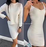 Женское платье с кофтой пудра, фото 5