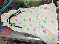 Детское летнее платье рубашка для девочки р.98 -128