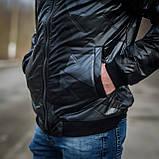 Чоловіча демісезонна куртка Giorgio Armani, сірого кольору, фото 4