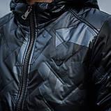 Чоловіча демісезонна куртка Giorgio Armani, сірого кольору, фото 5