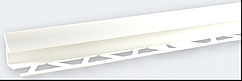 Кут внутрішній під плитку (7-8 мм) білий LRB01