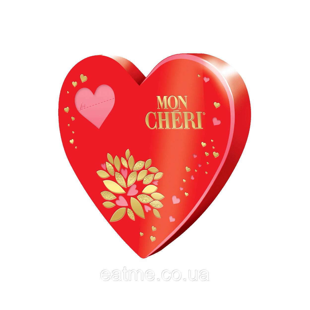 Mon Cheri - конфеты из молочного шоколада с ликером и цельной вишней внутри