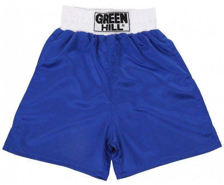 """Шорты боксерские Green Hill """"ELITE"""" синие"""