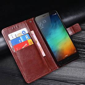 Чехол Idewei для Xiaomi Redmi Note 3 SE / Note 3 Pro Special Edition 152 книжка коричневый