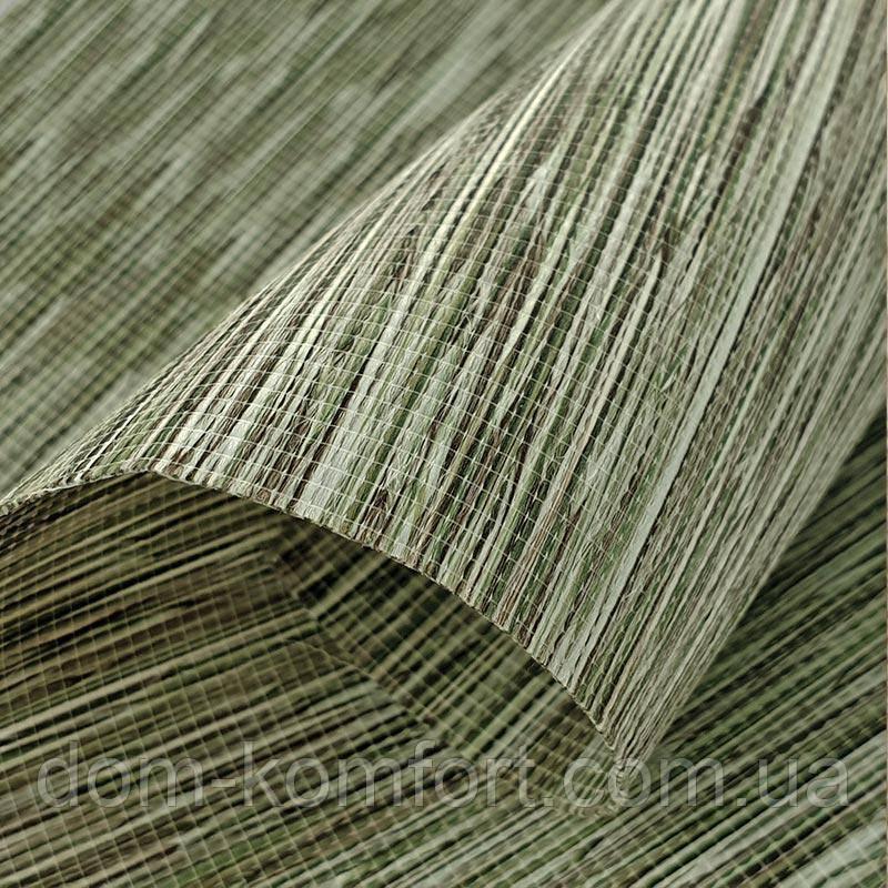 Тканевая ролета натуральная ткань цвет Green 5104