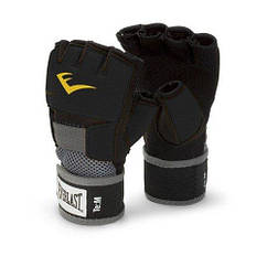 Гелевые перчатки EVERLAST Evergel Hand Wraps черный-серый