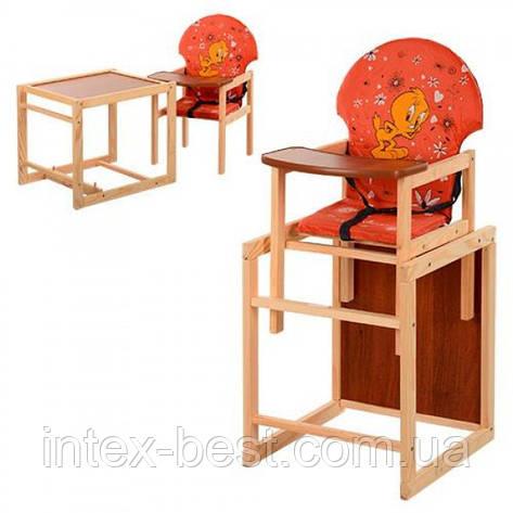Детский деревянный стульчик для кормления M V-010-27-7, фото 2