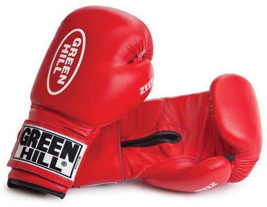 """Боксерские перчатки """"Zees"""" Green Hill (красный)"""