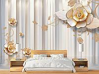 """Флизелиновые Фотообои """"Столбы с цветами (1002365)"""" от производителя за 1 день. Любая картинка и размер. ЭКО-обои"""