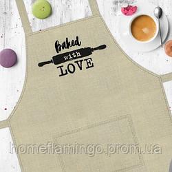 Фартук с надписью Baked with love