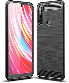 Чехол Carbon для Xiaomi Redmi Note 8T бампер оригинальный Black