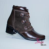 Стильні жіночі черевики з натуральної шкіри, фото 1