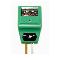 Измеритель кислотности pH, влажности, освещ. почвы