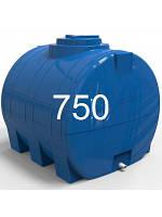 Емкость горизонтальная пластиковая объем 750 литров.
