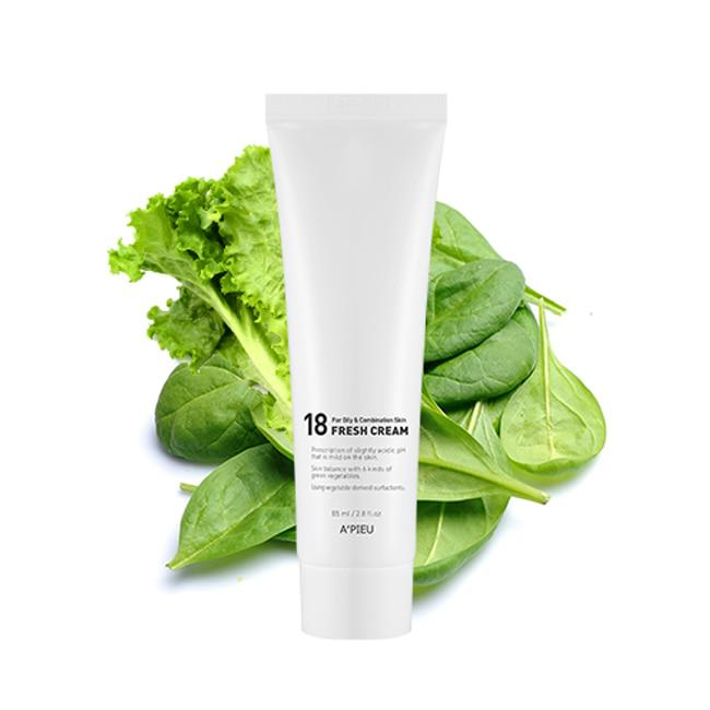 Освежающий cлабокислотный крем A'pieu для молодой кожи 18 Fresh Cream For Oily&Combination Skin