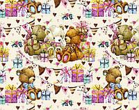 """Мелованная бумага """"Плюшевый мишка"""", 100х70 см"""