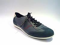 Кожаные польские мужские комфортные стильные спортивные туфли 44р Kazkobut