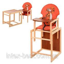 Детский деревянный стульчик для кормления M V-010-27-8, фото 2