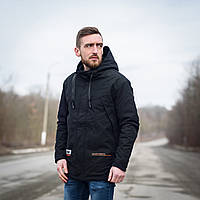 Стильная мужская удлиненная куртка весна-осень. Цвет - черный. Хмельницкий