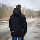 Чоловіча демісезонна куртка, чорного кольору, фото 2