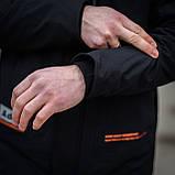 Чоловіча демісезонна куртка, чорного кольору, фото 3