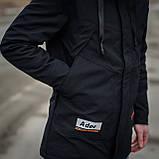 Чоловіча демісезонна куртка, чорного кольору, фото 7