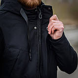 Чоловіча демісезонна куртка, чорного кольору, фото 9