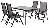 Садовый комплект мебели (стол  150 см+ 4 складных стула)