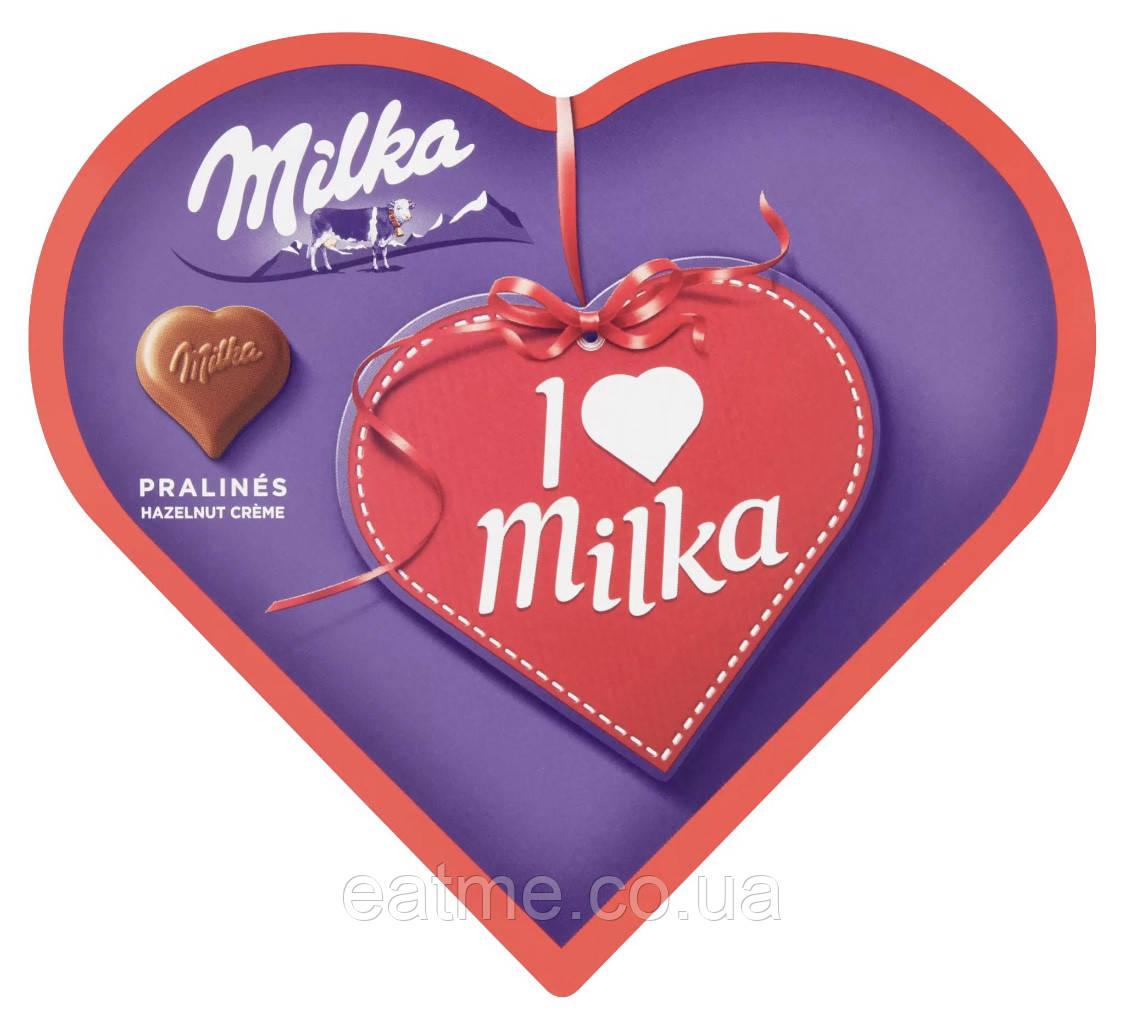 Milka ♥️ Конфетки в виде сердечек с ореховой начинкой в молочном шоколаде