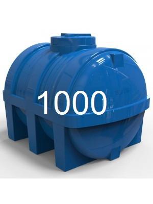 Емкость горизонтальная пластиковая двухслойная объем 1000 литров.