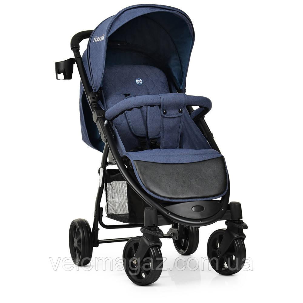 Детская прогулочная коляска El CAMINO M 3409L FAVORIT NAVY BLUE