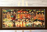 """Картина из янтаря """" Венецианская  ночь """" 40x90 см, фото 3"""