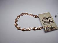 Золотой браслет, размер 19,5 см