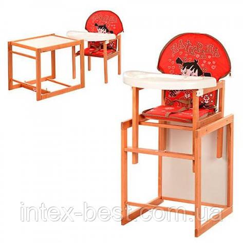 Детский деревянный стульчик для кормления M V-100-21-2, фото 2