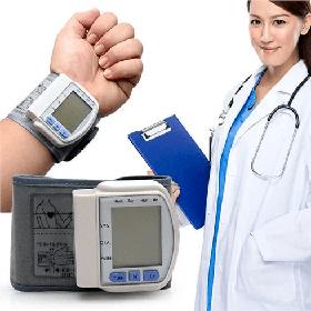 Тонометр цифровой на запястье Automatic wrist watch Blood Pressure Monitor Original