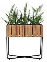Ящик вазон для растений из дерева и стали