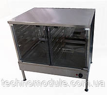 Розстійна шафа з функцією підігріву та парозволоження 12-рівнів з скляними дверима