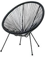 Лаунж кресло круглое садовое черное , фото 1