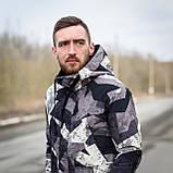 Чоловіча демісезонна куртка, сірого кольору, фото 2