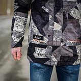 Чоловіча демісезонна куртка, сірого кольору, фото 7