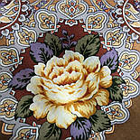 Сибирская красавица 1873-16, павлопосадский платок шерстяной  с шелковой бахромой, фото 6