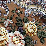 Сибирская красавица 1873-16, павлопосадский платок шерстяной  с шелковой бахромой, фото 7