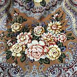 Сибирская красавица 1873-16, павлопосадский платок шерстяной  с шелковой бахромой, фото 4