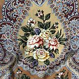 Сибирская красавица 1873-16, павлопосадский платок шерстяной  с шелковой бахромой, фото 9