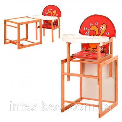 Детский деревянный стульчик для кормления M V-100-21-3, фото 2