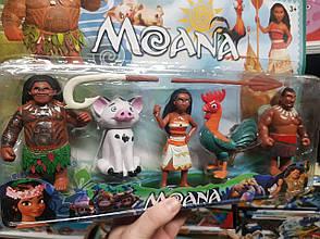 Фігурки героїв з мультфільму Моана Moana - 5 фігурок у наборі 18349, фото 2