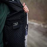 Чоловіча демісезонна куртка, сірого кольору, фото 3